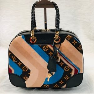 LOUIS VUITTON Bowling Vanity Tuffetage Bag